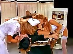 Three hot lesbo nurses lick pussies